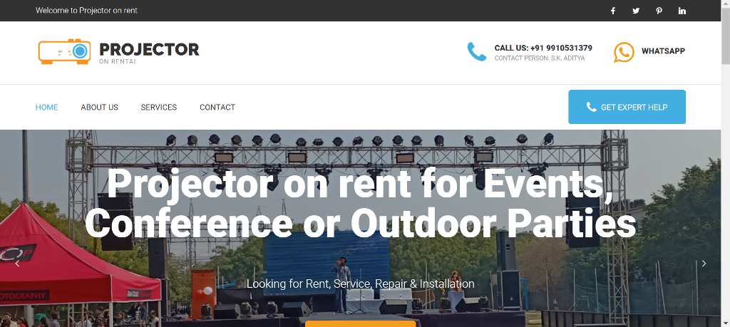 projectoronrental.com